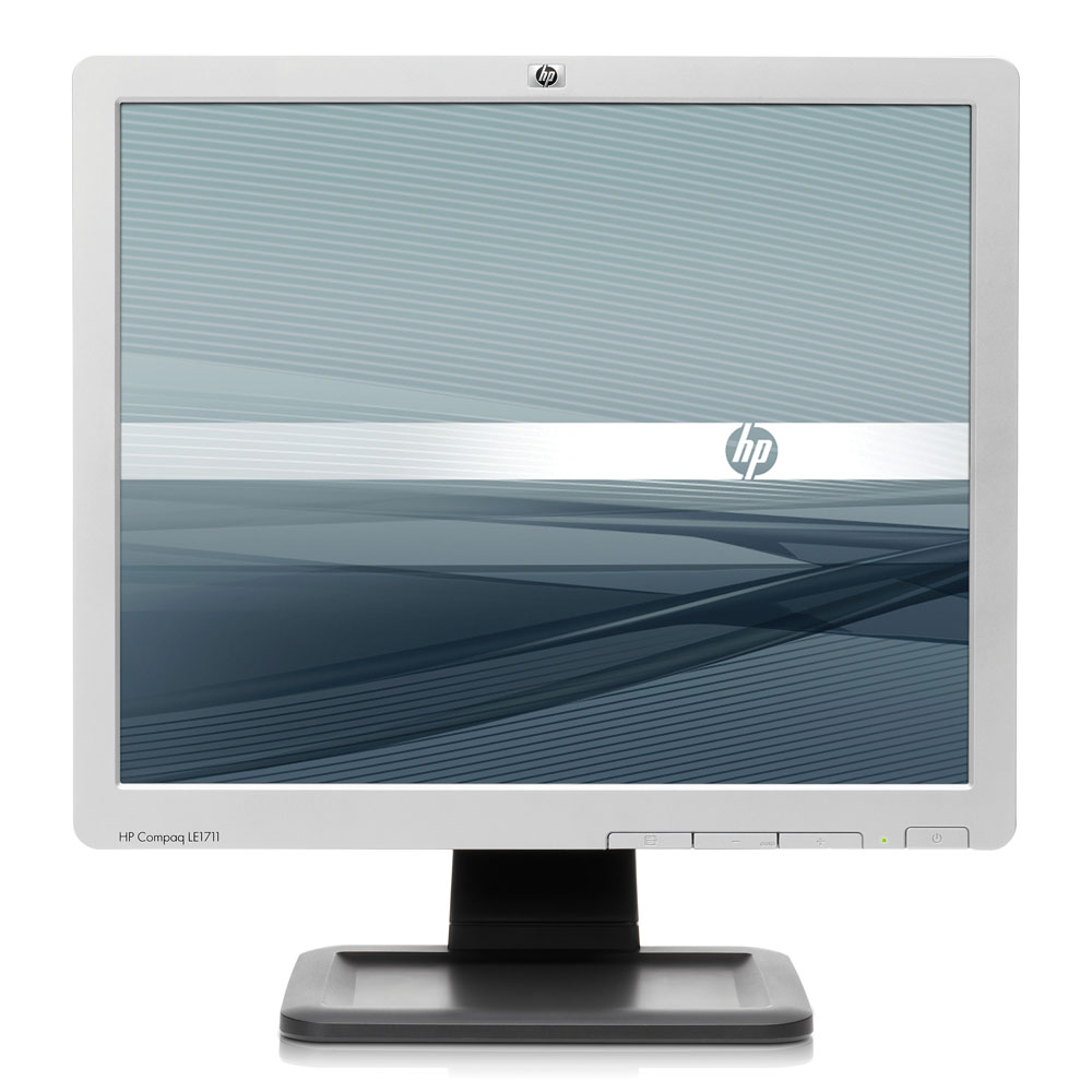 HP TFT LE1711 17 Flat Panel Monitor (250 cd/m2,1000:1,5 ms,160°/160°,15 pin D-sub(Analog VGA), EPEAT Silver)(new, replace GS917AA)